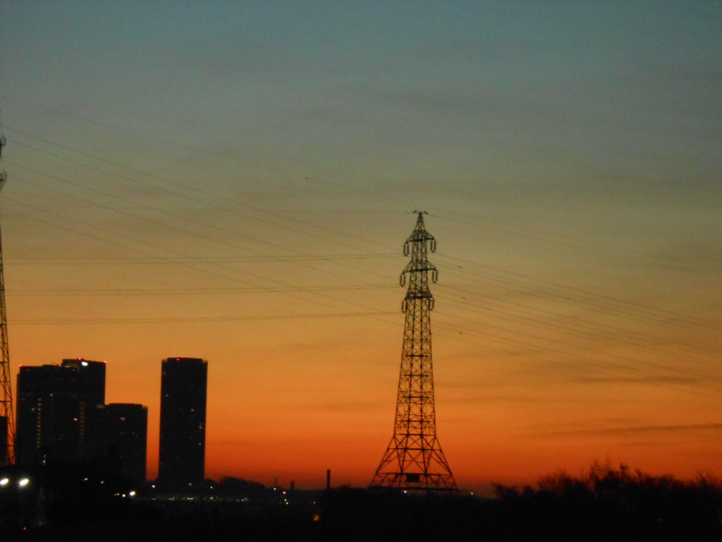 多摩川の日の出